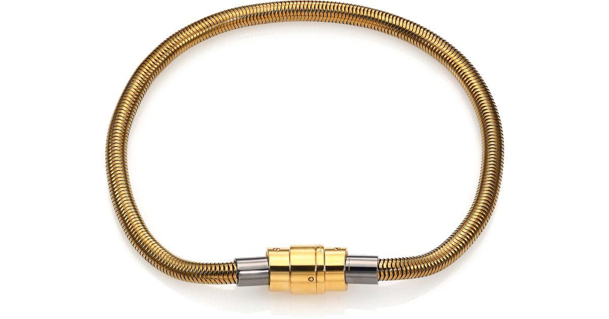 Fantastic Lyst - Lanvin Tube Chain Collar Necklace in Metallic MU48