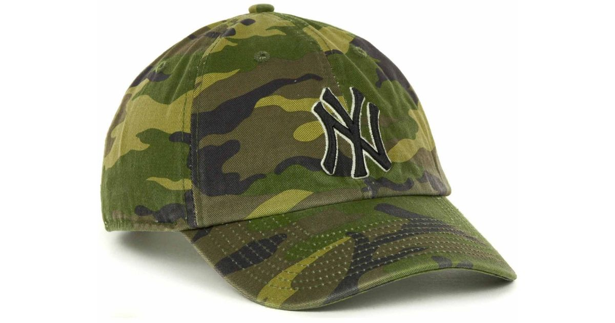0ef3668652d ... switzerland lyst 47 brand new york yankees clean up hat in green for men  0e019 63c1b