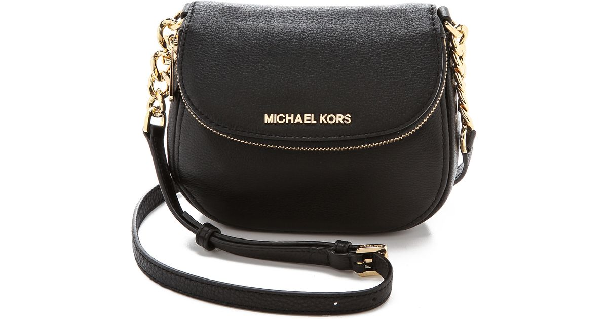 2ca3f29ad62e MICHAEL Michael Kors Bedford Flap Cross Body Bag Luggage in Black - Lyst