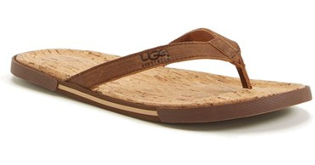 f4b7b148c41f Lyst - UGG Ugg  bennison Ii  Leather Flip Flop in Brown for Men