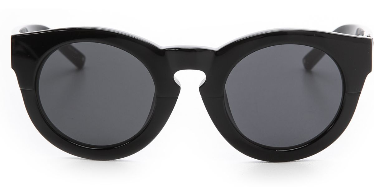 Thick Frame Glasses Black : 3.1 phillip lim Thick Frame Sunglasses in Black (Black ...