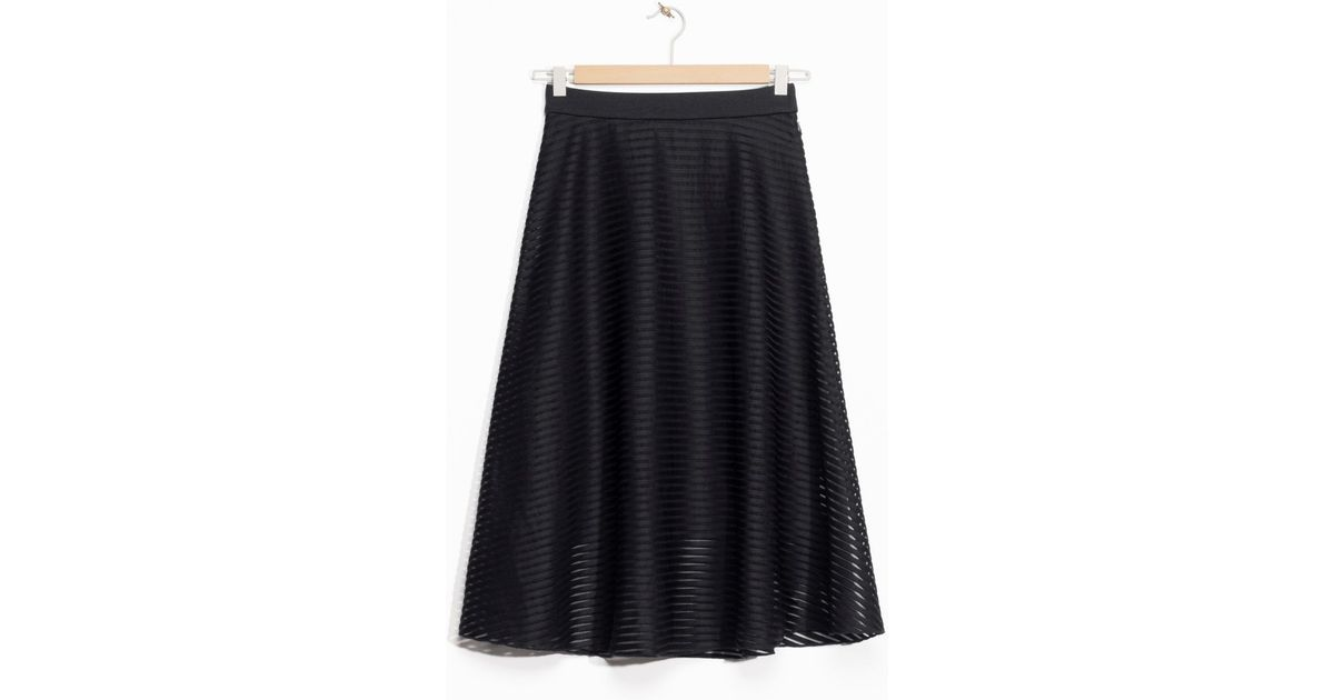 other stories striped a line skirt in black lyst