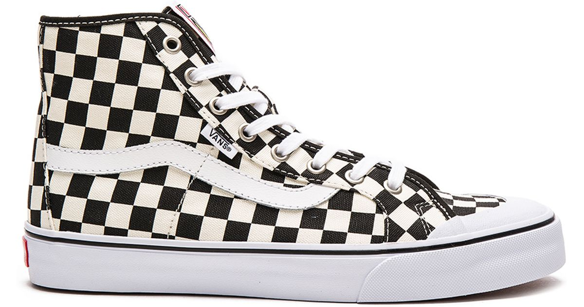 59a70460855d38 Lyst - Vans Black Ball Hi Sf Checkerboard in Black for Men