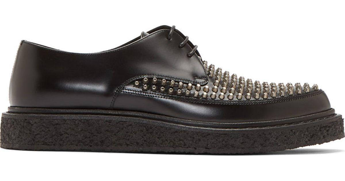 Saint Laurent Black Leather Studded