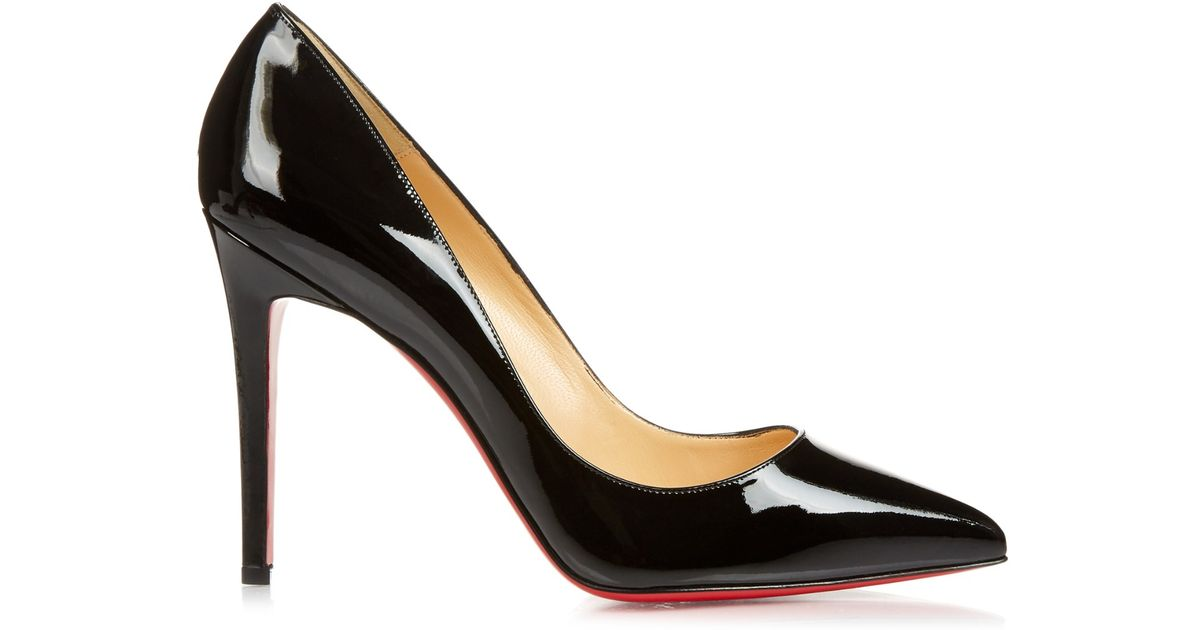 Lyst - Christian Louboutin Pigalle 100mm Patent-leather Pumps in Black d93a1ae089eb