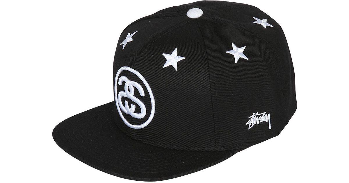 Stussy Techno Wool Blend Starter Baseball Hat in Black for Men - Lyst 9cb009cc791