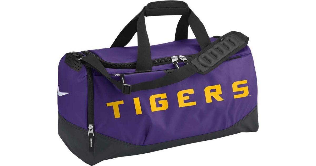 438b9d05d357 Lyst - Nike Lsu Tigers Training Duffel Bag in Purple for Men