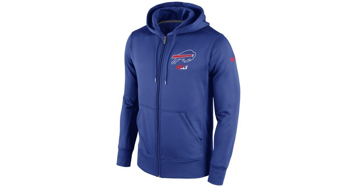 Lyst - Nike Men s Buffalo Bills Sideline Ko Fleece Full-zip Hoodie in Blue  for Men c6ab5f537