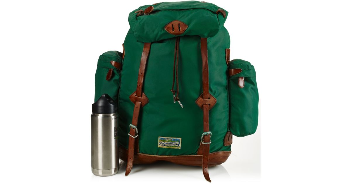 a0318e287ae8 Lyst - Polo Ralph Lauren Yosemite Nylon Backpack in Green for Men