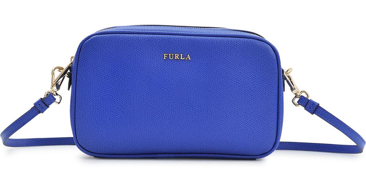 cute cheaper fresh styles Furla Blue Double-Zip Royal Bag