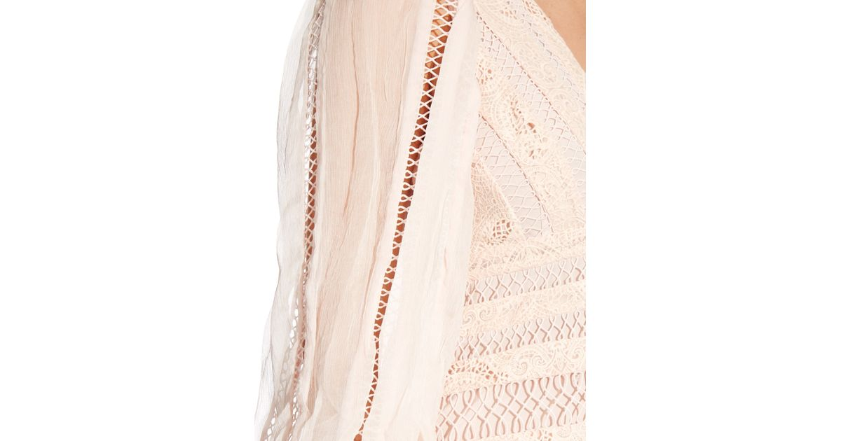 zimmermann rhythm spiral a frame midi dress in pink lyst