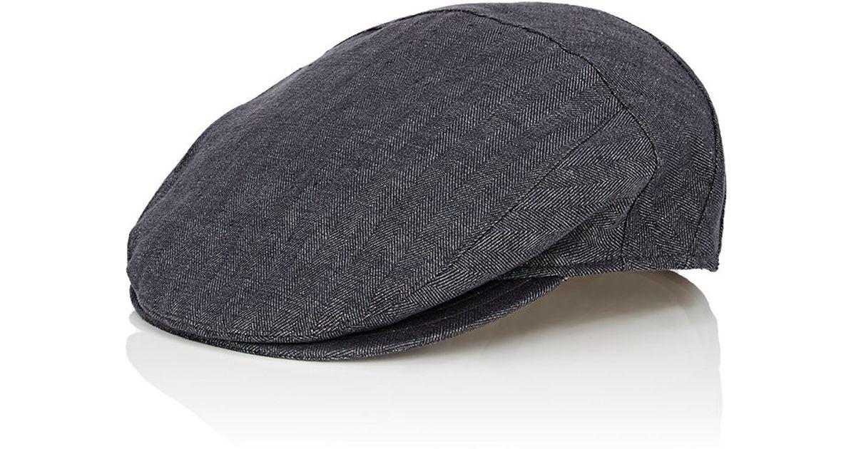 baab0ed1e8c Lyst - Borsalino Men s Herringbone Ivy Cap-grey Size 7 in Gray for Men