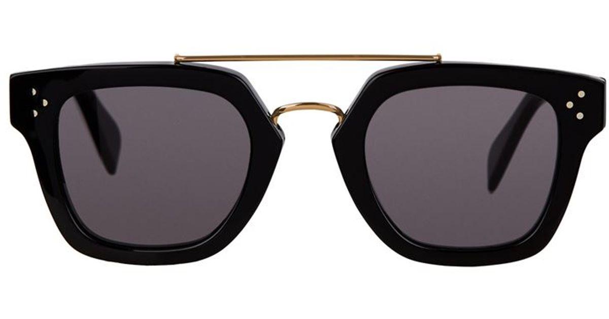 314ac36ba09 Céline Bridge Sunglasses in Black - Lyst