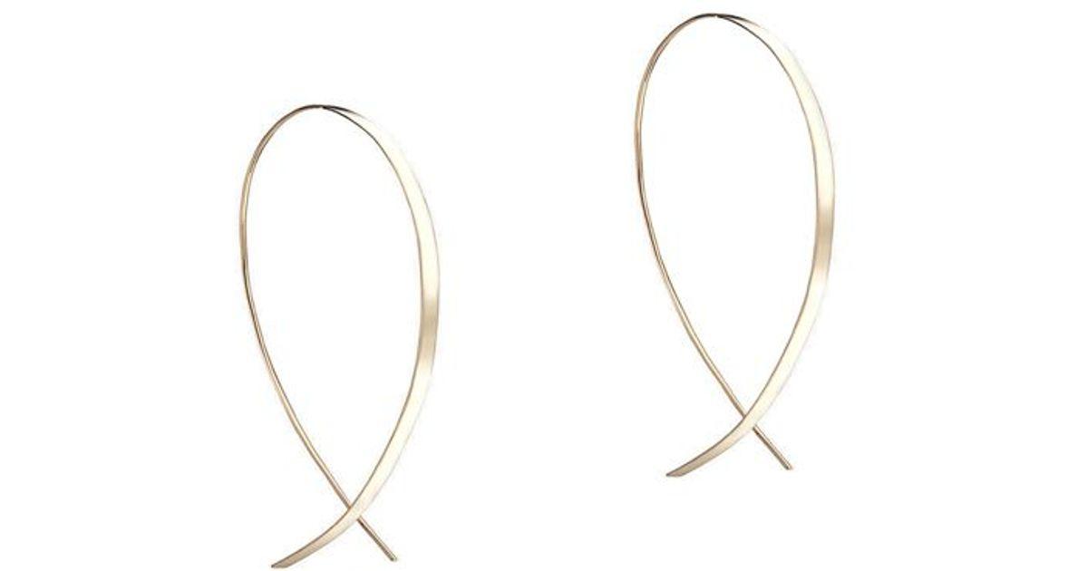 Lana Jewelry 14k Elite Narrow Upside Down Hoop Earrings BhXyD6MJ2