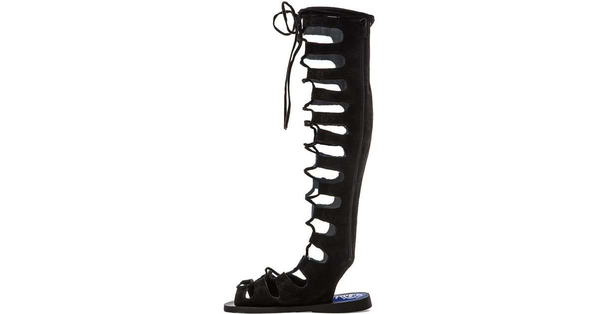 69bb7c6ba142 Lyst - Jeffrey Campbell Olympus Gladiator Sandal in Black