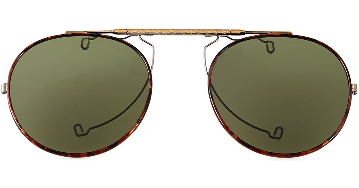 9faa3742e6 Lyst - Oliver Peoples O Malley Polarized Clip-On Sun Shades in Metallic for  Men