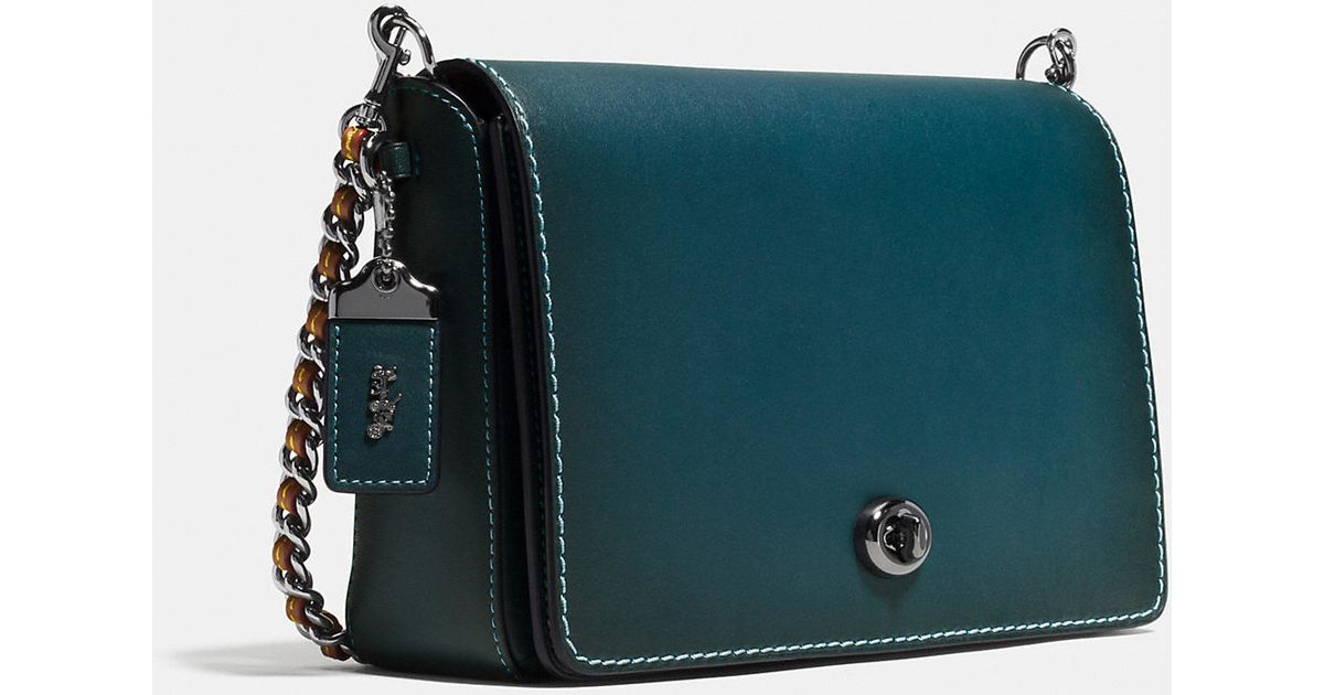 Coach Dinky Crossbody 24 In Burnished Glovetanned Leather