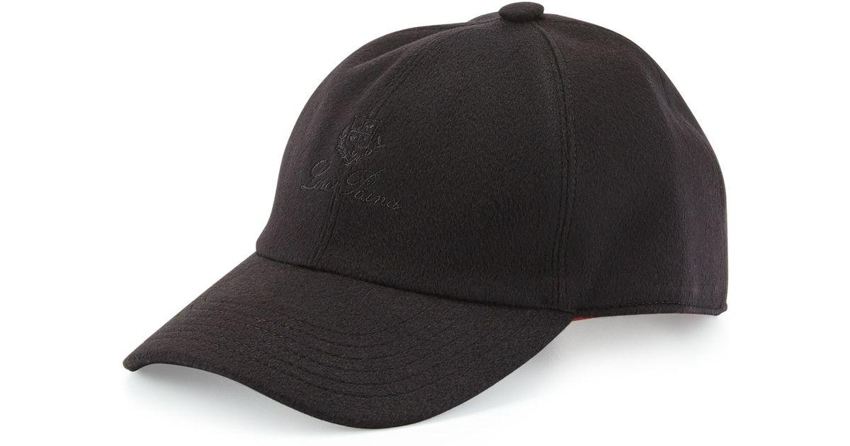 52ab51b2739 Loro Piana Cashmere Storm System Baseball Cap in Black for Men - Lyst