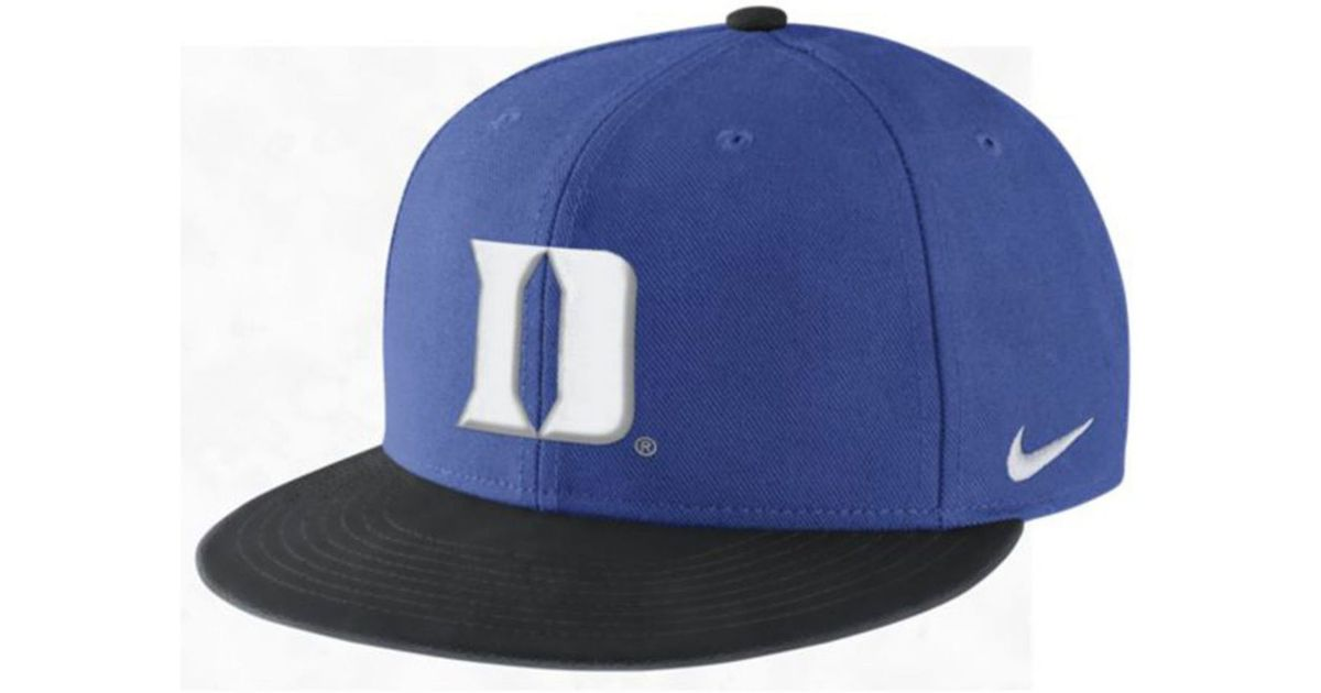 buy online 6edc7 4493d Lyst - Nike Duke Blue Devils Week Zero Trainer Snapback Cap in Blue for Men