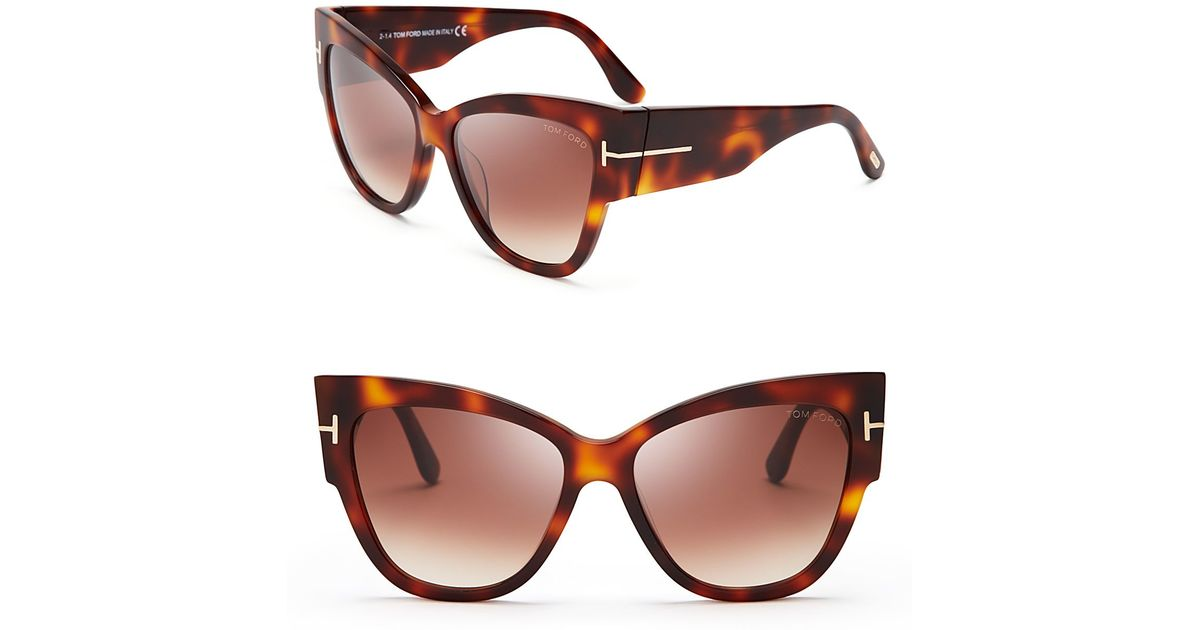 tom ford anoushka cat eye sunglasses 57mm in brown lyst. Cars Review. Best American Auto & Cars Review