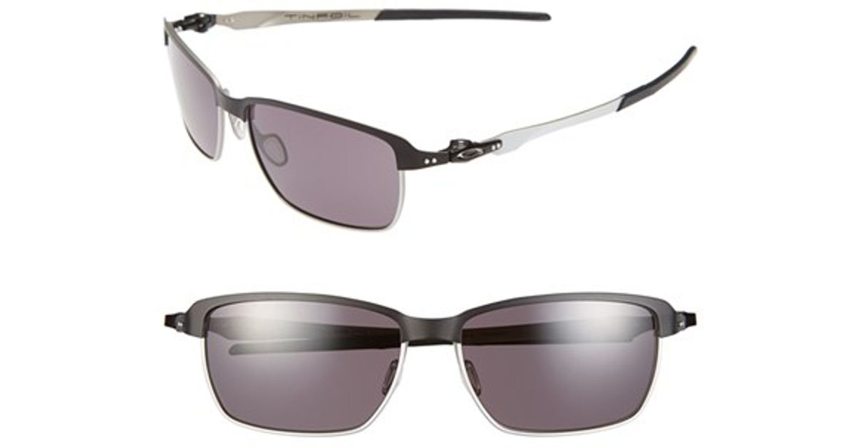 14fb7419ed8fa Lyst - Oakley  tinfoil(tm)  58mm Polarized Sunglasses in Black for Men