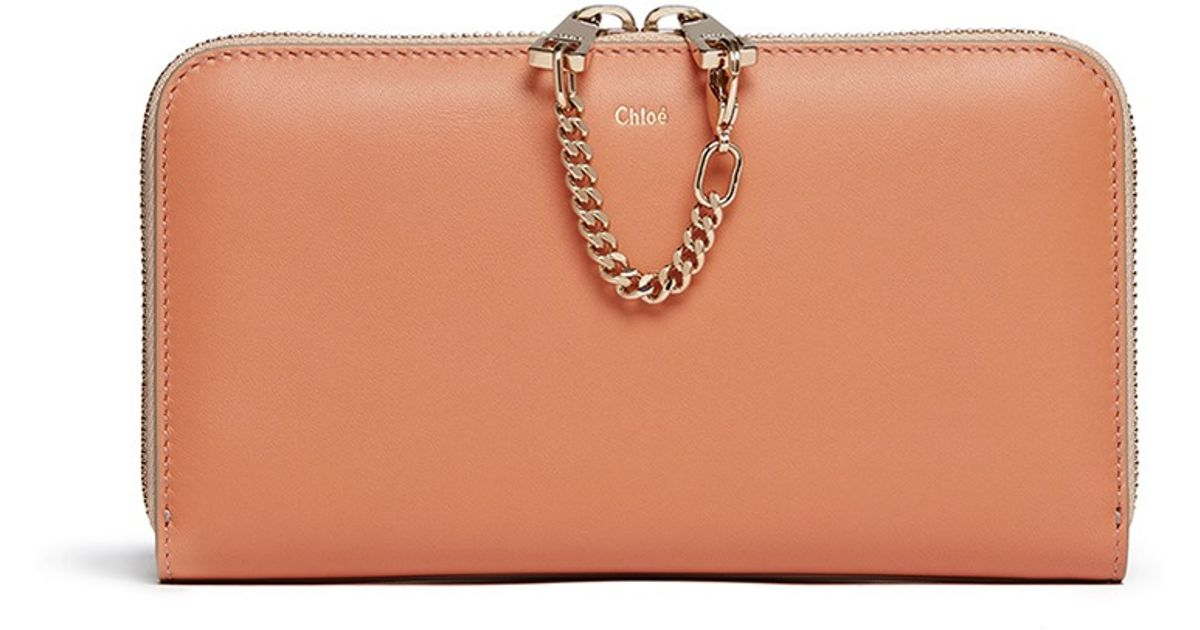 Chlo¨¦ Baylee Continental Leather Wallet in Multicolor (Multi ...