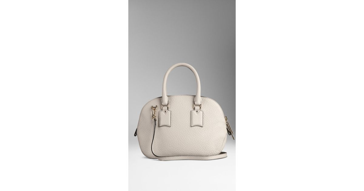 b2636b664368 Lyst - Burberry The Small Orchard In Signature Grain Leather in Natural