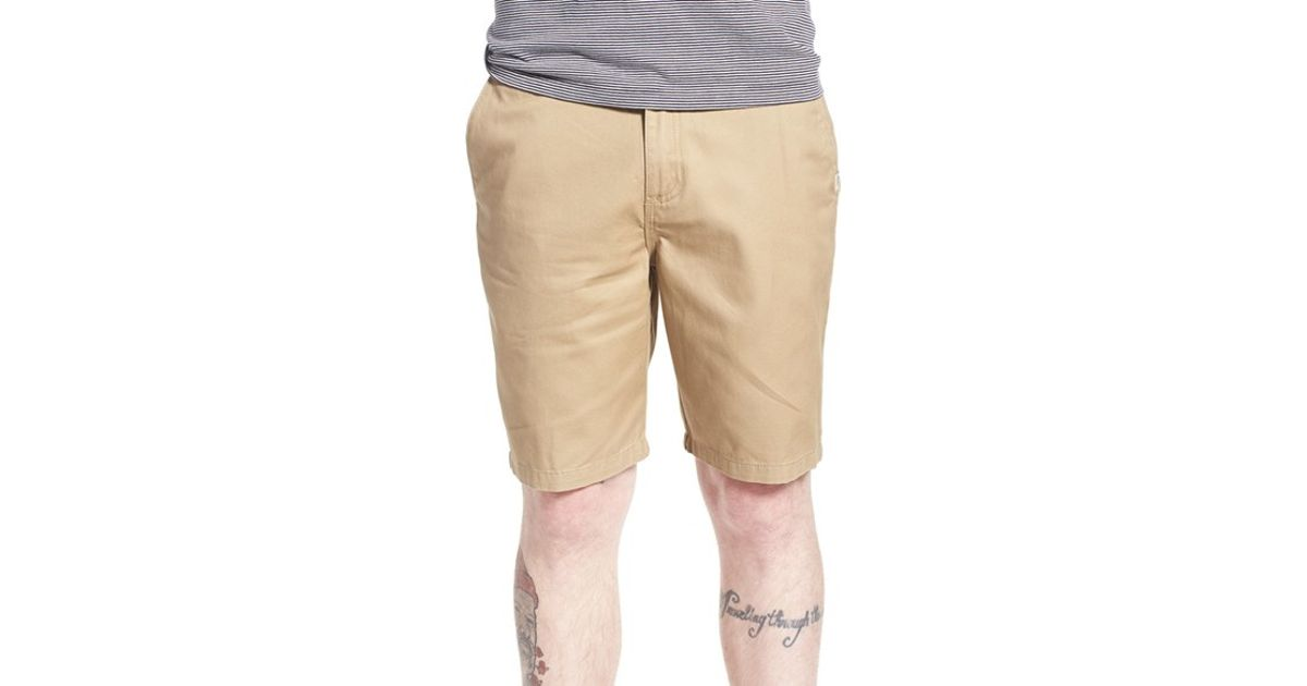 b1238a701f Lyst - Vans  linden  Twill Chino Shorts in Natural for Men