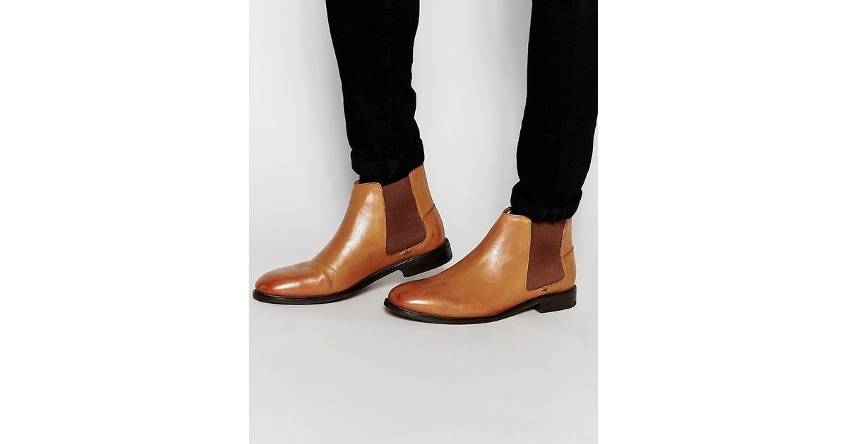 4b96afe9611 Ben Sherman Brown Kris Chelsea Boots In Tan for men