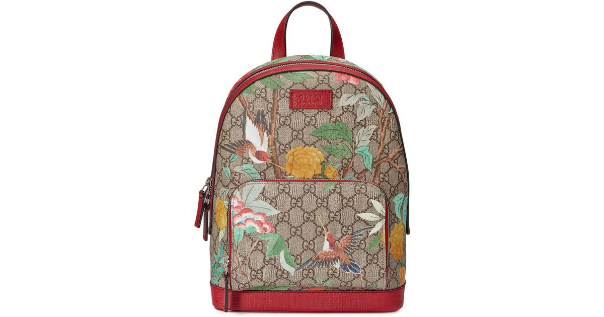 2993e585cf7 Lyst - Gucci Gg Supreme Tian Canvas Backpack
