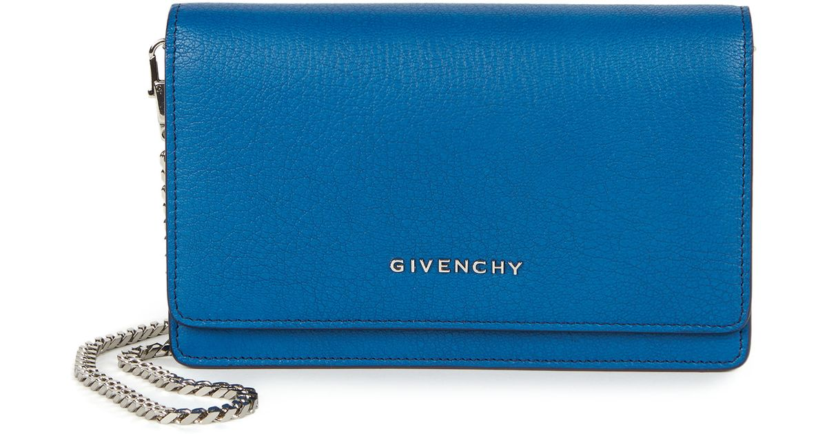 c4c2f00007 Givenchy Pandora Chain Wallet in Blue - Lyst