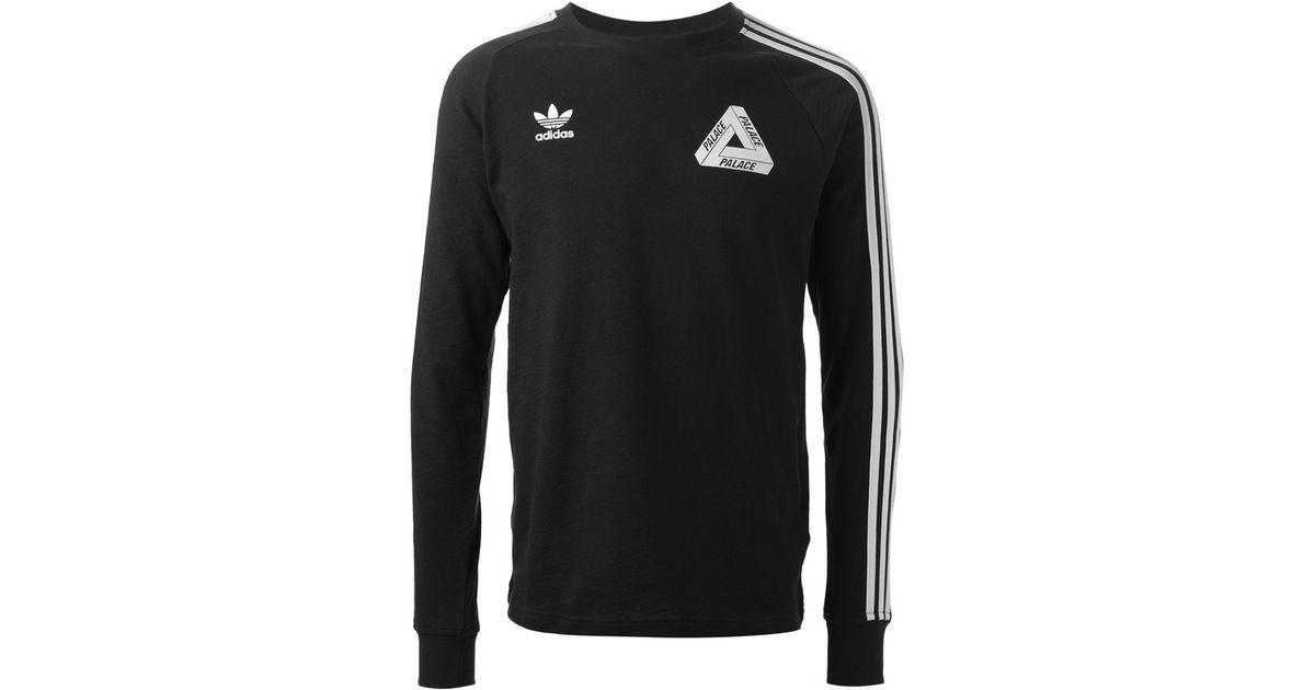 For Men Black T Shirt Palace X Sleeve Adidas Long shdxotCBQr