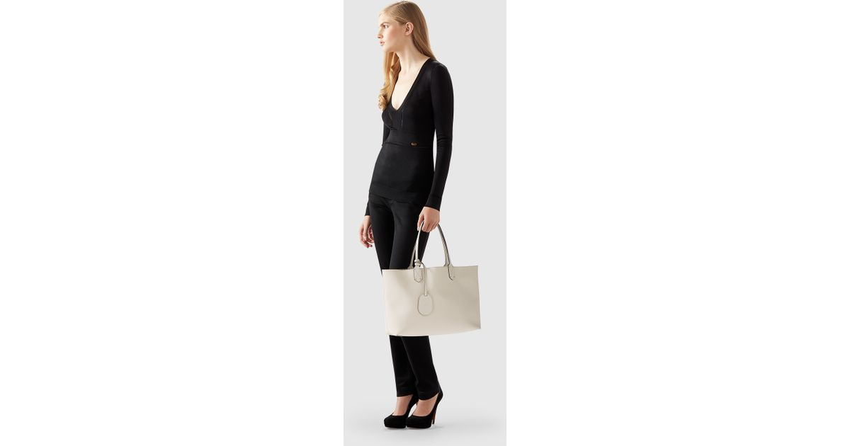 Lyst - Gucci Reversible Gg Leather Tote in Natural