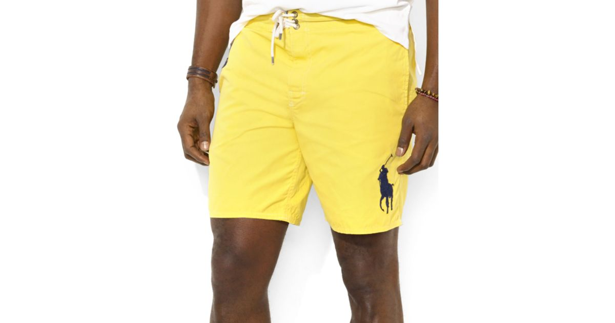 Lyst - Ralph Lauren Polo Big and Tall Sanibel Swim Shorts in Yellow for Men