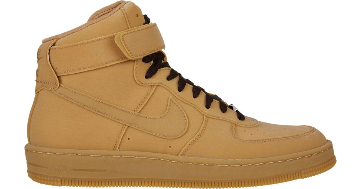 pretty nice b2bea 8a8ce Nike Air Force 1 Downtown Hi Gum Hightop Sneakers in Brown for Men - Lyst