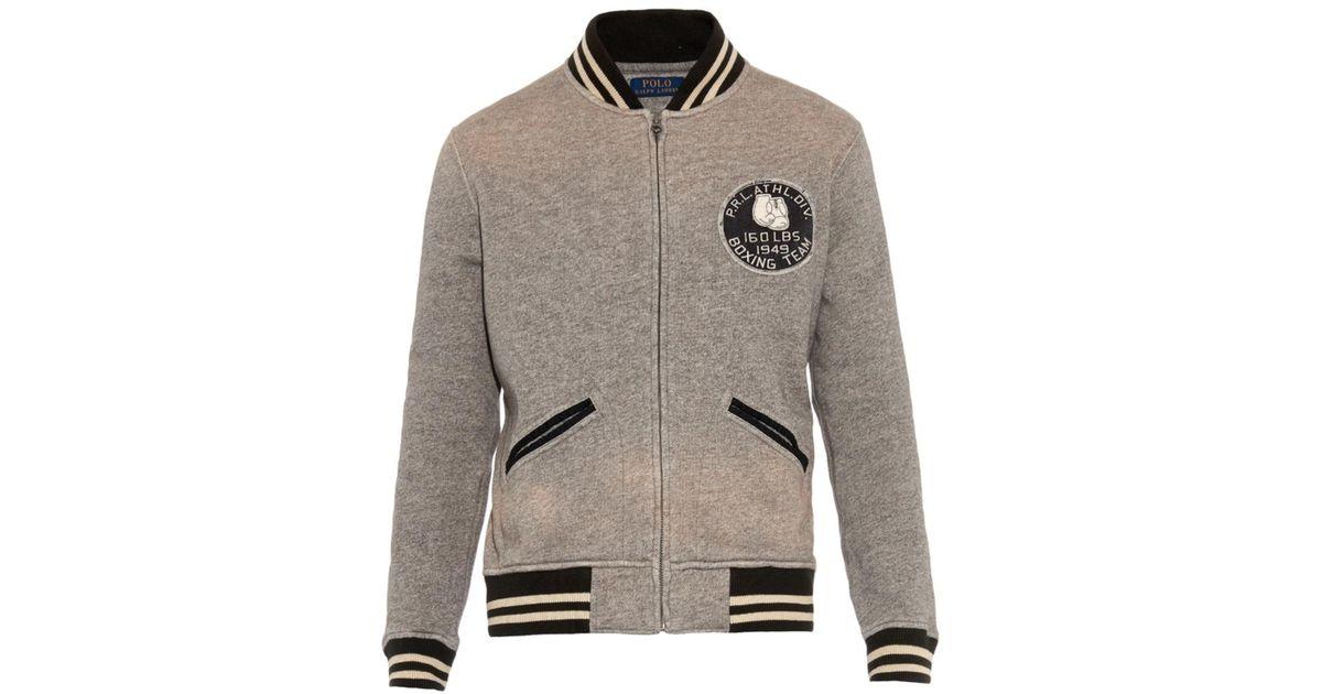 Men Gray New Lauren York Ralph Varsity For Polo Jacket lFT1cKJ