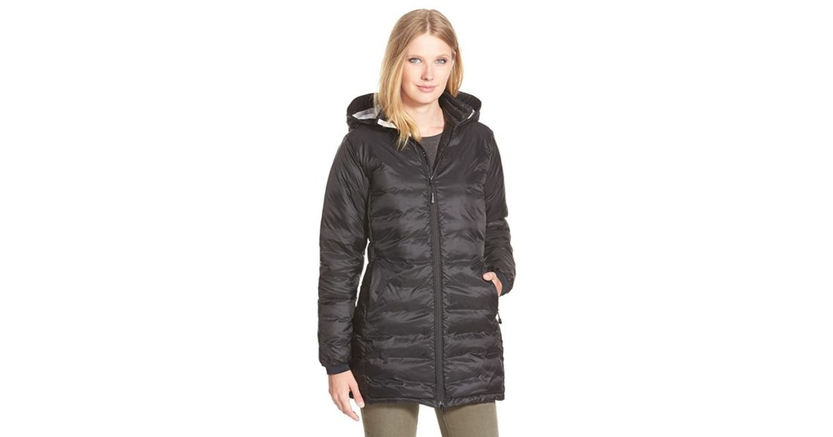 Canada Goose' Camp Down Hooded Jacket - Women's XL - Black