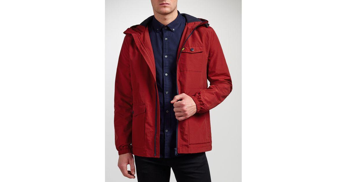 Lyle   Scott Microfleece Lined Jacket in Red for Men - Lyst 5f05193da9f65
