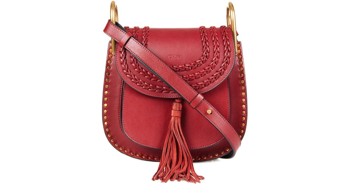 Favori Chloé Hudson Small Leather Shoulder Bag in Red | Lyst IW09