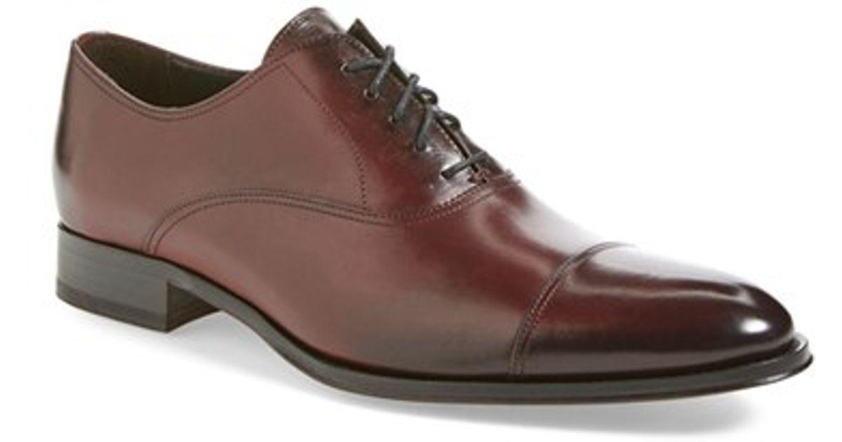 To Boot Brandon Cap Toe Oxford In Purple For Men Lyst