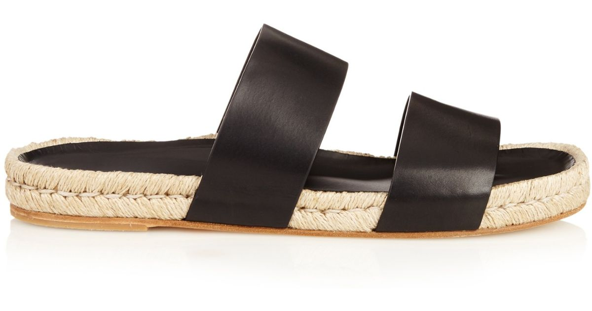 e570841b0 Balenciaga Leather Espadrilles Sandals in Black for Men - Lyst