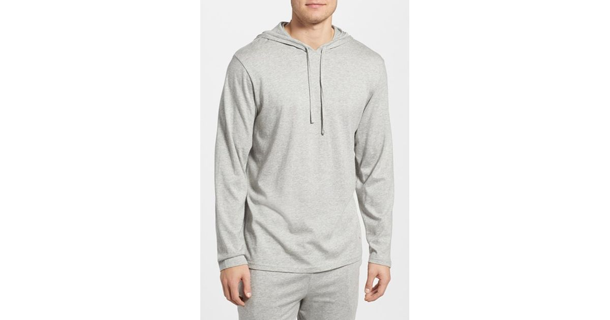 polo ralph lauren pullover hoodie in gray for men lyst. Black Bedroom Furniture Sets. Home Design Ideas