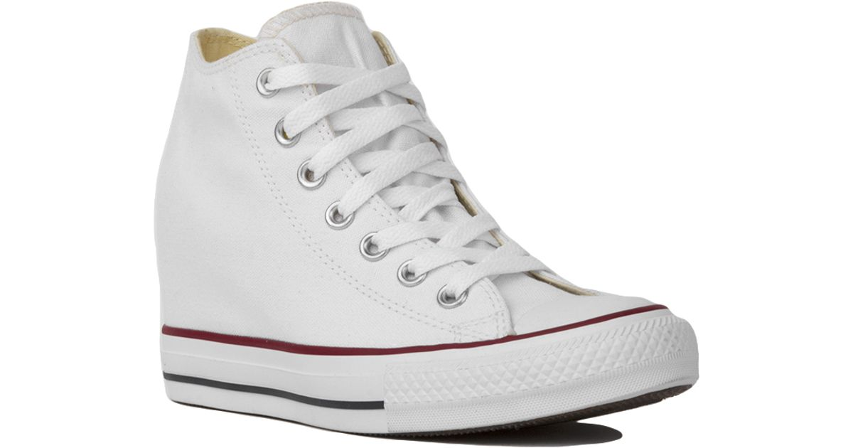 c04befafff0c Lyst - Converse Chuck Taylor All Star Lux Mid Top Sneaker Wedges - White in  White