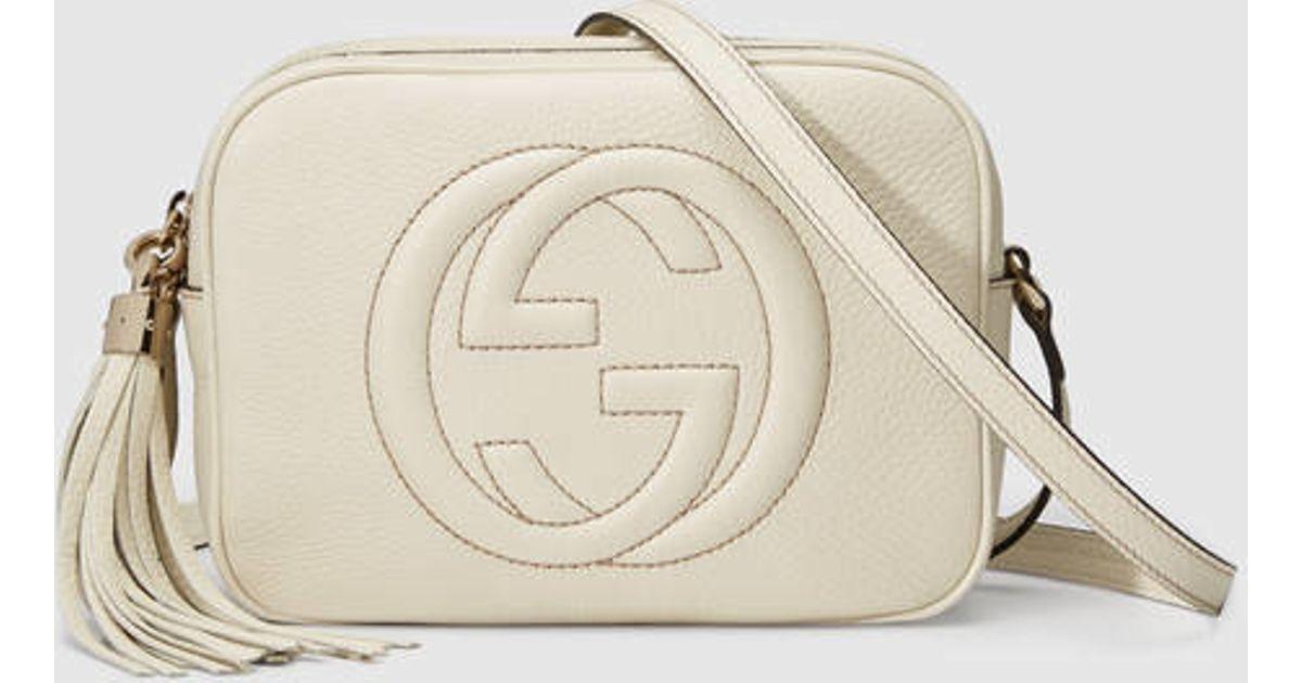 24f666c5c0c9 Lyst Gucci Soho Leather Disco Bag In White