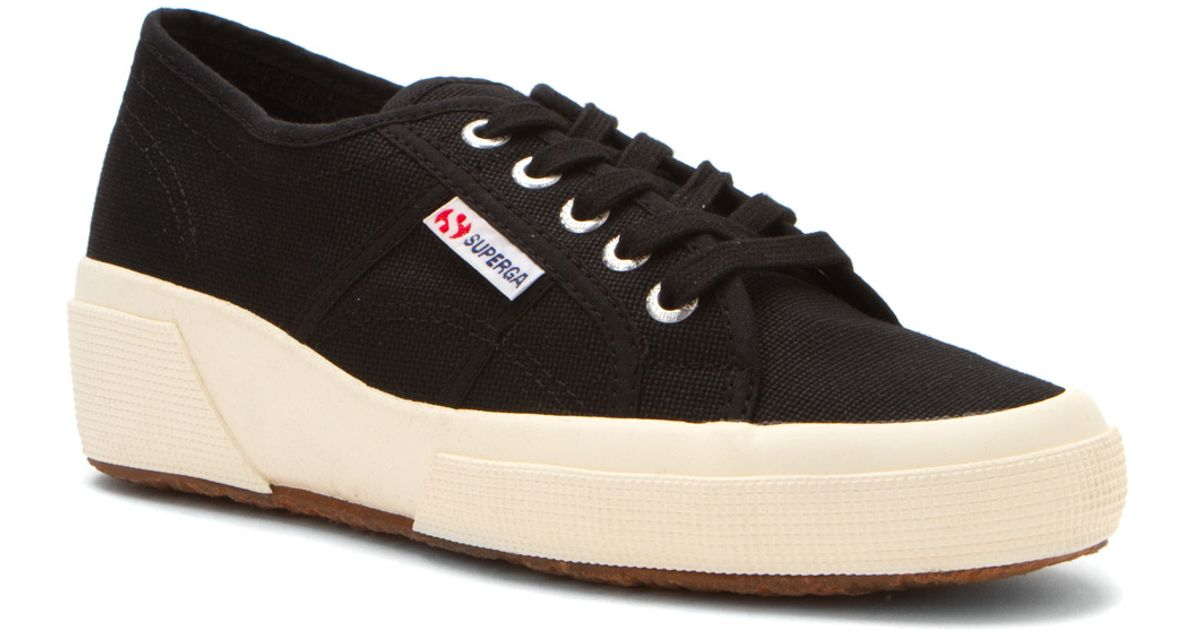 Womens Shoes Superga 2905 Cotw Linea Up And Down Black