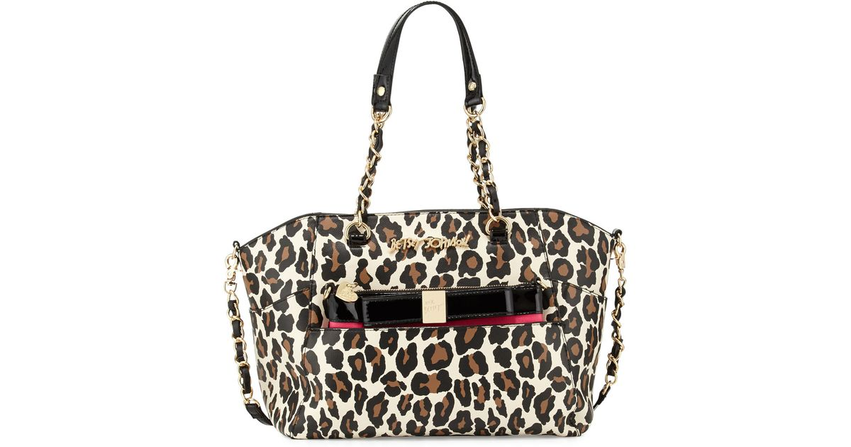 f3957dfa4d32 Betsey Johnson Leopard Print Bag | Stanford Center for Opportunity ...
