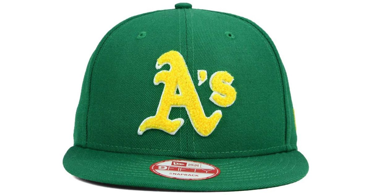 9d8fbff587296a Lyst - KTZ Oakland Athletics The Letter Man 9fifty Snapback Cap in Green  for Men