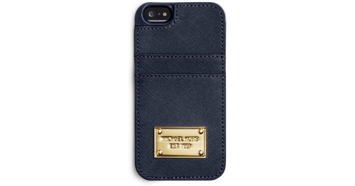 newest e5097 5eaf0 michael kors phone case blue