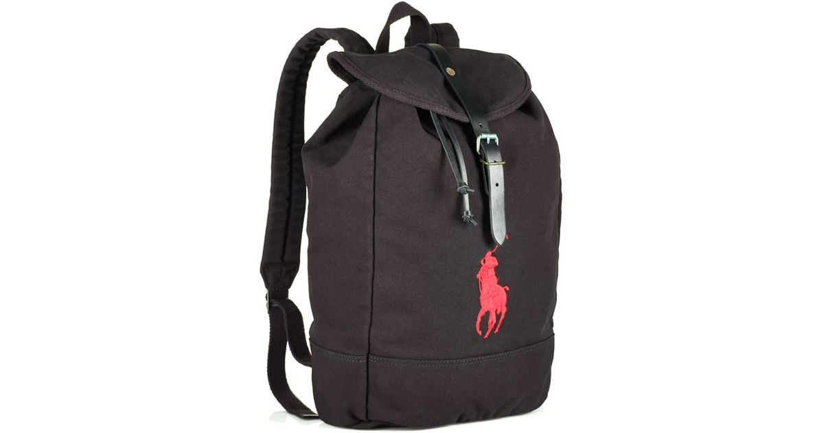 f5457092b67 Polo Ralph Lauren Canvas Backpack in Black for Men - Lyst