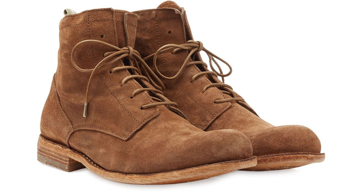 e952977aa7bc9 Officine Creative Suede Lace-Up Boots in Brown for Men - Lyst